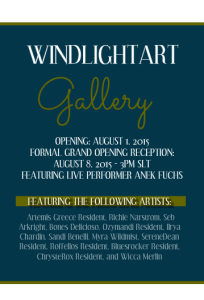Windlight Magazine Gallery Opening Poster